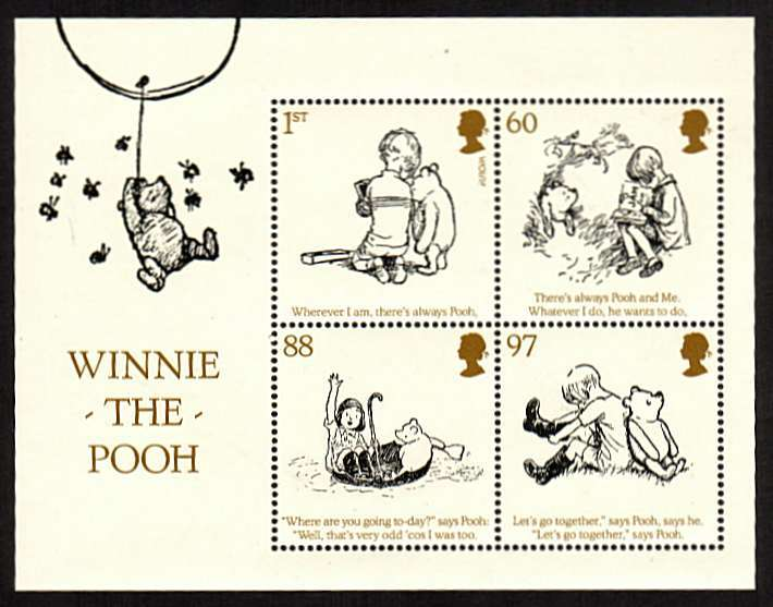 view larger image for SG MS3127 (12 Oct 2010) - Childrens Books, Winnie the Pooh minisheet