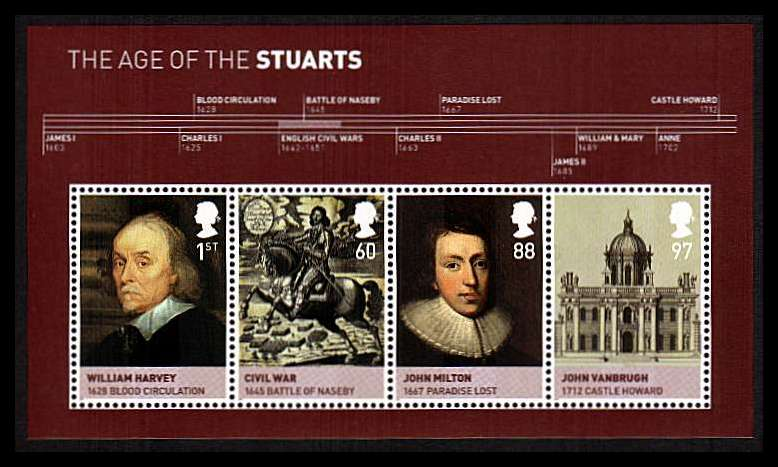 view larger image for SG MS3094 (15 June 2010) - Kings and Queens - 4th Issue<br/>