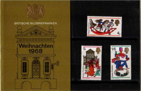 Stamp Image: view larger back view image for Christmas - GERMAN