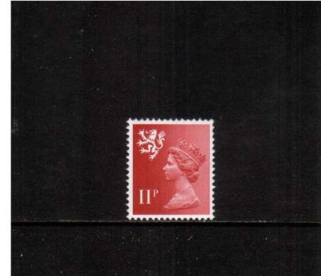 view larger image for SG S32Ey (1976) - <b>SCOTLAND</b> 11p Scarlet - A superb unmounted mint single showing <b>PHOSPHOR OMITTED</b>