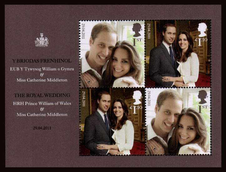 view larger image for SG MS3180 (21 April 2011) - The Royal Wedding<br/>