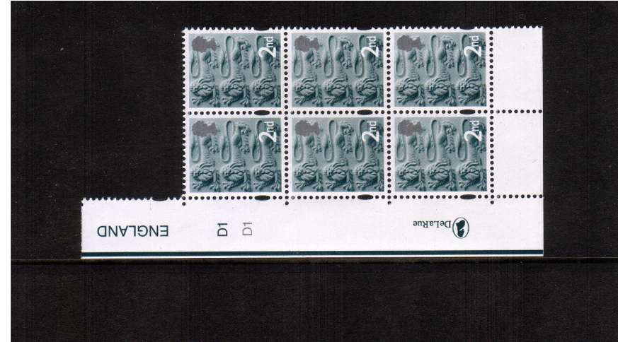 view larger image for SG EN6 (14 Oct 2003) - 2nd in a superb unmounted mint cylinder block of six showing cylinder numbers<br/>TYPE II