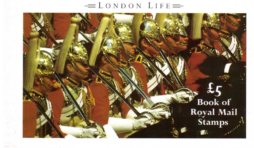 British Stamps Prestige Booklets Item: view larger image for SG DX11 (1990) - �5 - 'London Life'