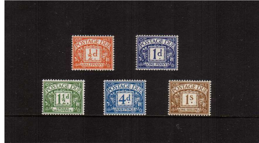 view larger image for SG D35-D39 (1951) - The ''Colour Change and New Value'' set of five superb unmounted mint.