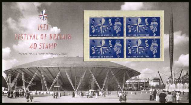 Stamp Image: view larger back view image for ''Festival of Britain 4d Stamp''<br/>