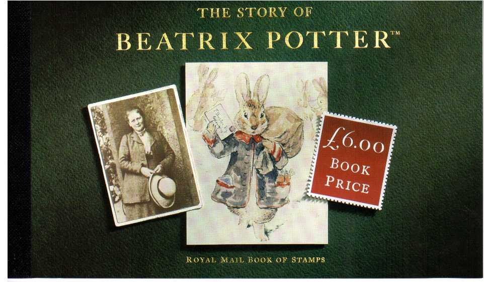British Stamps Prestige Booklets Item: view larger image for SG DX15 (1993) - �5.64 - 'The Story of Beatrix Potter'