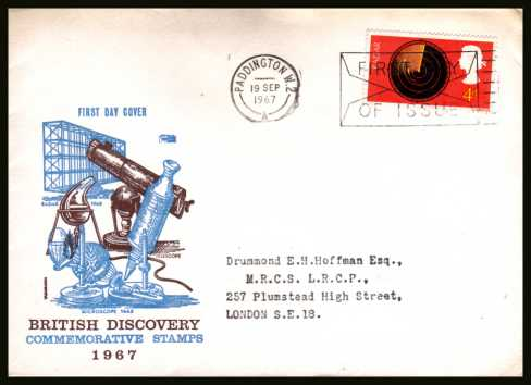 view larger back view image for British Discovery and Invention 4d RADAR single on a typed addressed 