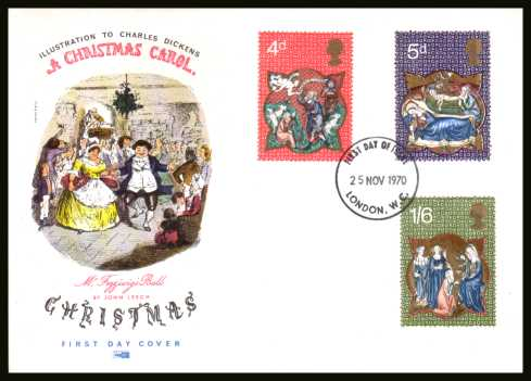 view larger back view image for Christmas set of three on an unaddressed PHILART