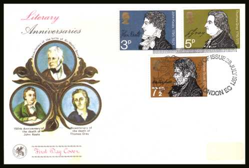 view larger back view image for Literary Anniversaries set of three on an unaddressed WESSEX
