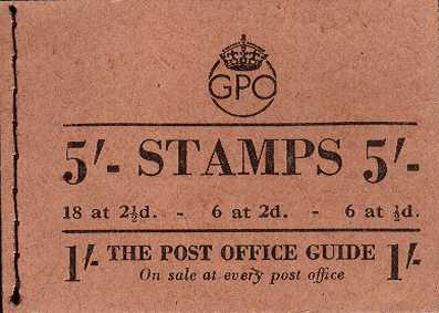 British Stamps George 6th Booklets Item: view larger image for SG BD28-48 (1943) - 5/- Booklet<br/>