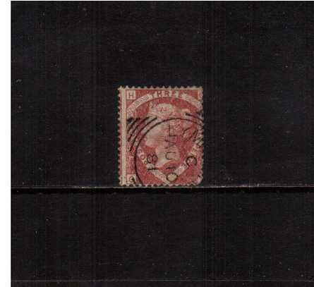 view larger image for SG 53 (1870) - 1�d Rose Red from Plate 3 lettered ''O-H'' cancelled with a crisp ''squared circle'' cancel clearly dated AU 10 81. The stamp does have a rounded SE corner hence price!<br/>SG Cat �75