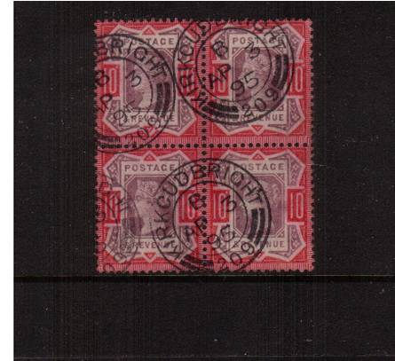 view larger image for SG 210b (1887) - 10d Dull Purple and Scarlet<br/>