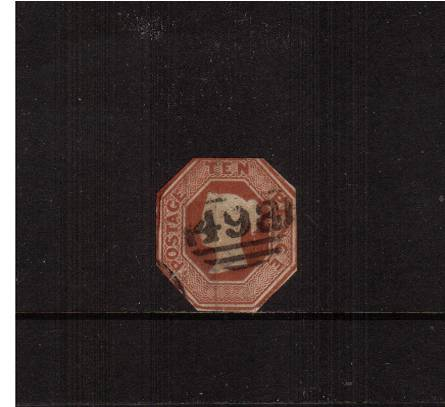 view larger image for SG 57 (1848) - EMBOSSED - 10d Brown.<br/>