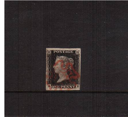 view larger image for SG 2 (1840) - 1d Black lettered ''M-E''<br/>