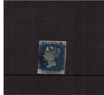 view larger image for SG 5 (1840) - 2d Blue from Plate 1 lettered ''J-H''<br/>