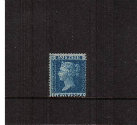 view larger image for SG 45 (1858) - 2d Blue from Plate 9 lettered ''E-K''<br/>A mounted mint stamp wih average centering. <br/>SG Cat �350