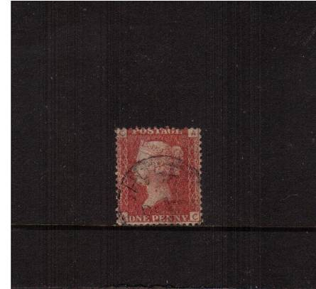 view larger image for SG 43 (1858) - 1d Rose-Red - Plate  171