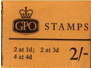 British Stamps QE II Stitched Pre Decimal Booklets Item: view larger image for SG N24 (1966) - 2/- Booklet<br/>
