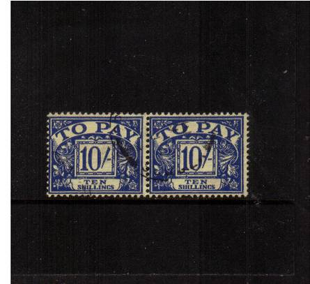 view larger image for SG D67 (1959) - <b>10/- Blue - Multiple Crowns</b><br/>