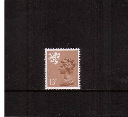 view larger image for SG S39Ey (1984) - <b>SCOTLAND</b><br/>13p Pale Chestnut - Type I<br/>