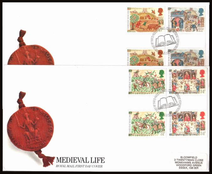 view larger back view image for Medieval Life - Domesday Book set of four