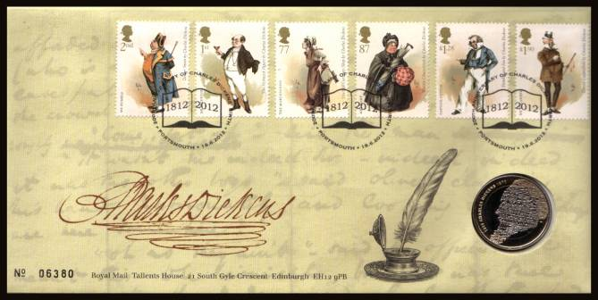 view larger image for SG RMC124 (2012) - Royal Mail and Royal Mint commemorative cover commemorating:<br/> 