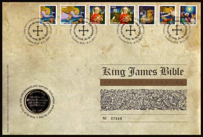 view larger image for SG RMC107 (2011) - Royal Mail and Royal Mint commemorative cover commemorating:<br/> 