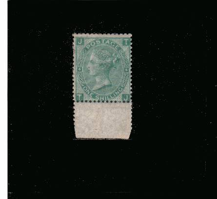 view larger image for SG 117 (1867) - 1/- Green from Plate 4 lettered ''T-J''<br/>