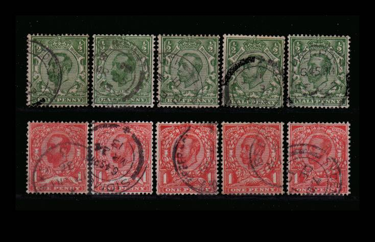 view larger image for SG 321-350 (1911) - The basic set of ''Mackennals''<br/>