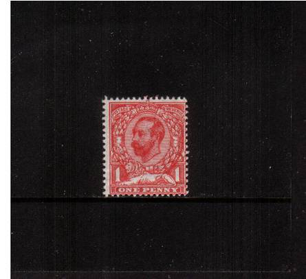 view larger image for SG 329 (1911) - 1d Carmine - Die B - Watermark Crown<br/>