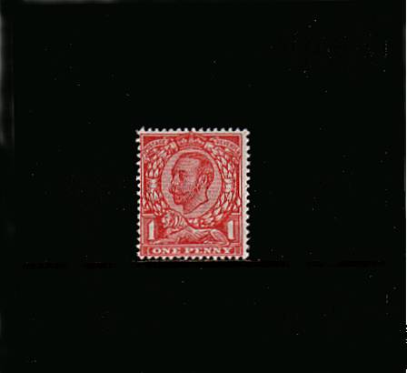 view larger image for SG 341 (1912) - 1d Bright Scarlet - Watermark Crown<br/>