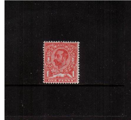 view larger image for SG 327 (1911) - 1d Carmine-Red - Die A - Watermark Crown<br/>