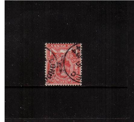view larger image for SG 336Wi (1912) - 1d Scarlet - Die B - Watermark Simple Cypher<br/>