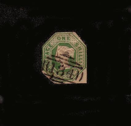 view larger image for SG  55 (1883) - Embossed - 1/- Green<br/>