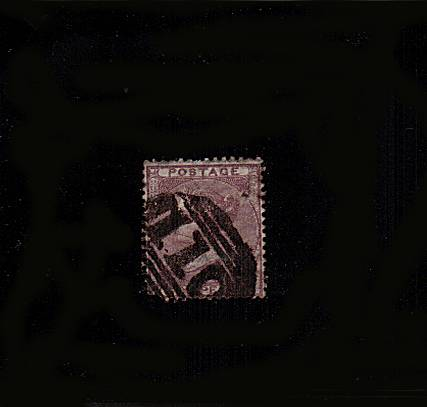 view larger image for SG 69 (1856) - 6d Deep Lilac