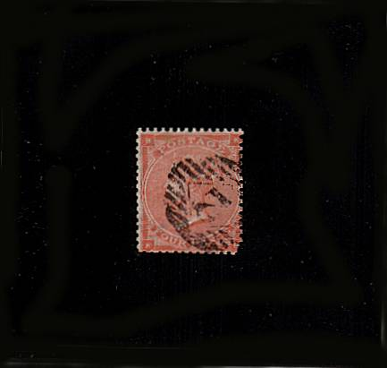 view larger image for SG 79 (1862) - 4d Bright Red from Plate 3 (no hairlines) lettered ''K-B''