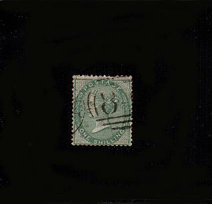 view larger image for SG 72 (1856) - 1/- Green