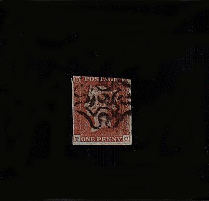 view larger image for SG 8m (1841) - 1d Red Brown lettered 'Q-A'<br/>
