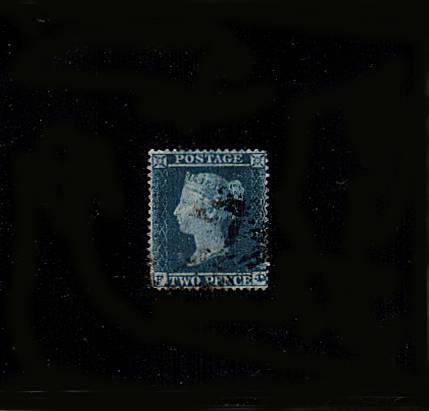 view larger image for SG 20 (1841) - 2d Blue from Plate 4 lettered ''F-D''<br/>