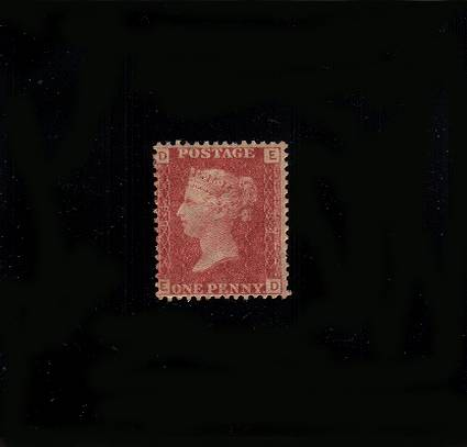 view larger image for SG 43 (1864) - 1d Rose-Red from Plate 84 lettered ''E-D''