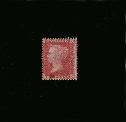 view larger image for SG 43 (1864) - 1d Rose-Red from Plate 85 lettered ''Q-C''