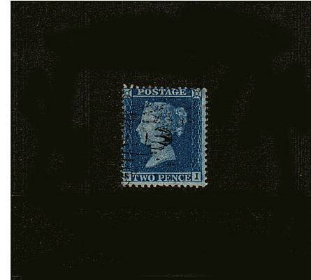 view larger image for SG 35 (1857) - 2d Blue from Plate 6 - Large Crown - Perf 14