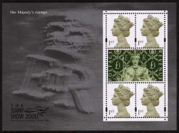 view larger image for SG MS2147 (23 May 2000) - 'Stamp Show 2000'  - 'Her Majestys's Stamps' minisheet