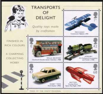 view larger image for SG MS2402 (18 Sept 2003) - Classic Transport Toys minisheet