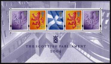 view larger image for SG MSS152 (5 Oct 2004) - Opening of New Scottish Parliament minisheet