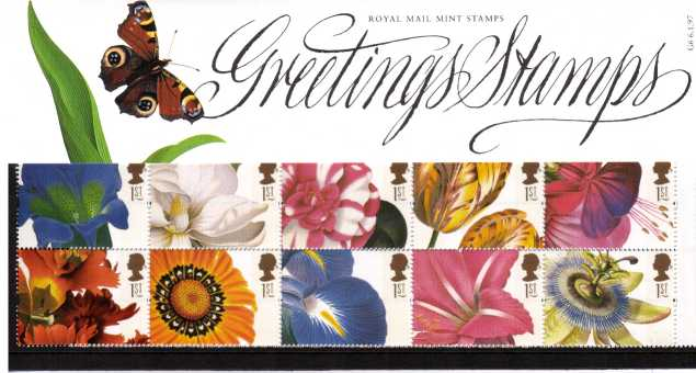 Stamp Image: view larger back view image for 19th Century Flower Paintings<br/><br/>