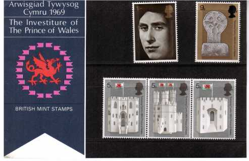 Stamp Image: view larger back view image for Investiture of The Prince of Wales