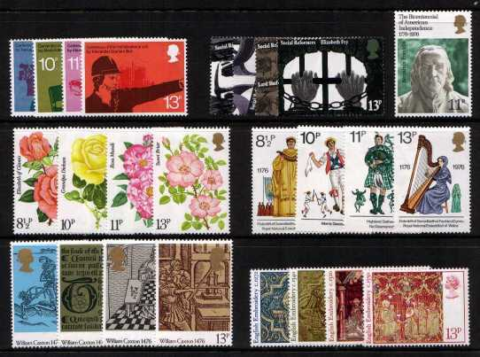 view larger image for Commemorative Year Sets -  (1976) - <BR/>