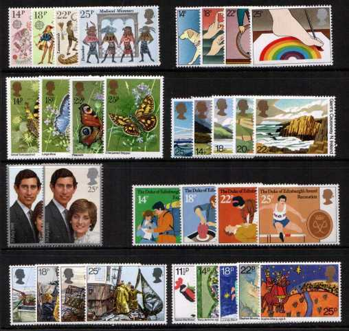 view larger image for Commemorative Year Sets -  (1981) - <BR/>