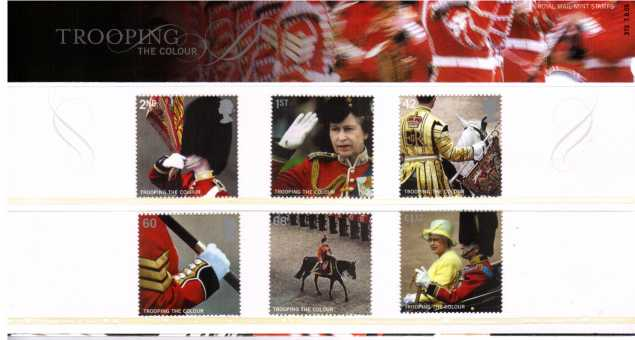 Stamp Image: view larger back view image for Trooping the Colour<br/><br/>
